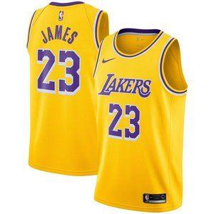 Men's Los Angeles Lakers LeBron James Gold Jersey